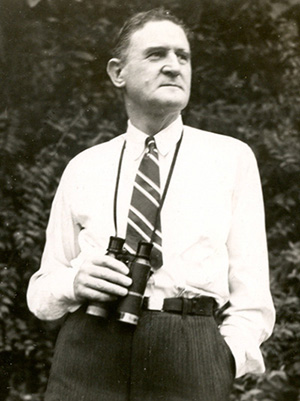Clinton G. Abbott, photographed for Bird-Lore, January 1940.